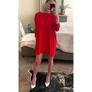 Red Piko dress